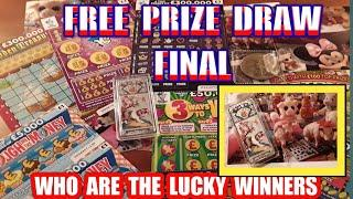 Scratchcard...PRIZE DRAW FINAL....WHO ARE THE LUCKY WINNERS..says
