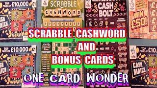 SCRABBLE CASHWORD......One Card Wonder with Bonus Scratchcards.... mmmmmmMMM..says