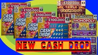 New..CASH DROP Scratchcards..and MONOPOLY..CASHWORD..£50.00 Worth of Cards.. mmmmmmMMM