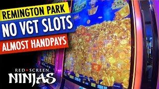 VGT SLOTS - RED SCREEN NINJAS AT REMINGTON PARK CASINO LIVE PLAY!