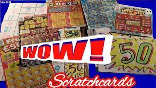 SUPER SCRATCHCARD GAME..FRUITY £500..WIN ALL..REDHOT BINGO..WONDERLINES..&..£5 WIN £50 CARD