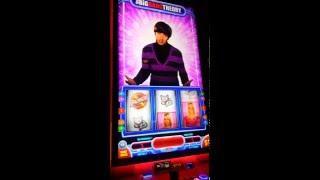 HIGH LIMIT $5 BONUS WHEEL SPIN on THE BIG BANG THEORY Casino Sizzling Slot Jackpots Machine Videos