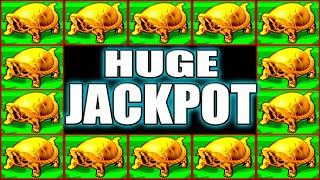WE LANDED A HUGE JACKPOT! I CAN'T BELIEVE ALL THESE SPINS HIGH LIMIT SLOTS