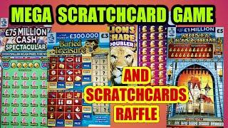 SCRATCHCARD GAME..UNBELIEVABLE..EVERYONE SEEMS TO BE CONTRIBUTING  £££££ TO OUR RAFFLE GIVE AWAY