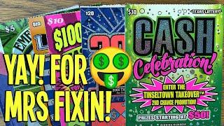 NEVER HAD THAT COMBO WIN  2X $30 Cash Celebration!  $150 TEXAS LOTTERY Scratch Offs