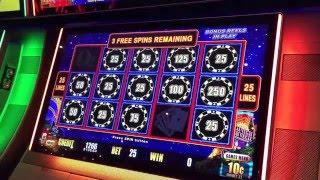 Lightning Link High Stakes Hold & Spin Bonus & Line Hit $.10 Denom New York Casino Las Vegas