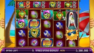 MARTIAN MAYHEM Video Slot Casino Game with a FUN IN THE SUN FREE SPIN BONUS