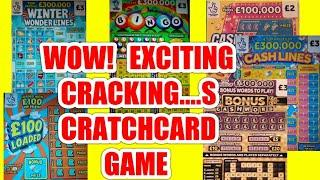 """What an EXCITING Scratchcard game""""CASHWORD""""CASHLINES""""BINGO""""£100 LOADED""""WONDERLINES""""WIN £50"""""""