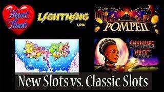 (New Slots vs Classic Slots) Lightning Link Hart Throb, Ponpaii, Sugar Hits and Shaman's Magic