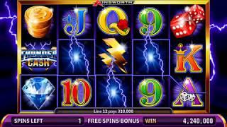 THUNDER CASH Video Slot Casino Game with a THUNDER CASH FREE SPIN BONUS