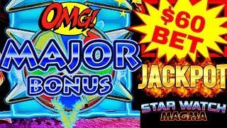 HIGH LIMIT Star Watch Magma $60 Bet HANDPAY JACKPOT   Fantastic Run On High Limit Konami Machine