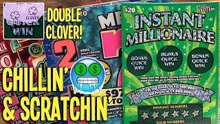 CHILLIN' & SCRATCHIN' WINS!  Playing ALL $20 TICKETS!  $120 TEXAS LOTTERY Scratch Offs