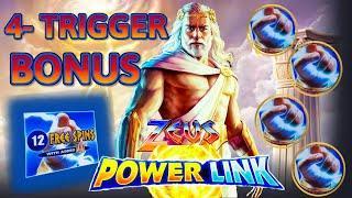NEW SLOT ️HIGH LIMIT Power Link Zeus (2) $20 Bonus Rounds Slot Machine Casino