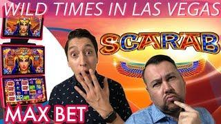 Max Bet on SCARAB Slot Machine in Las Vegas! Gold Spin Wheel of Fortune