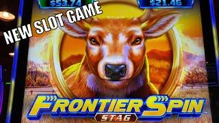 I KNOW YOU HATE ME (-_-;)50 FRIDAY 161FRONTIER SPIN STAG/MAMMOTH POWER/5 DRAGONS RAPID Slot栗スロ