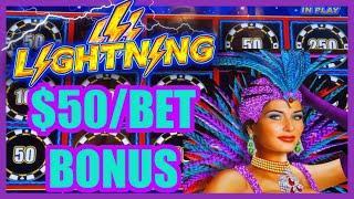 HIGH LIMIT Lightning Link High Stakes $50 Bonus Round ️Magic Pearl $25 Bonus Round Slot Machine