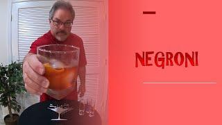 How I Make A Negroni Cocktail
