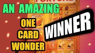 """One Card Wonder game..""""AMAZING BIG WINNER"""".....GET IN THERE...WhooooOOOOOOO..Classic"""
