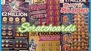 Game on...Wonderlines..Merry Millions..£2. Million Big Daddy..£20,000 Month.Match 3