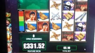 Bruce Lee Slot Super Big win!2 wilds 5 free spins!