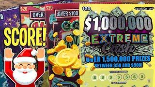 Let it Snow MONEY ️ BIG Single Match + WIN after WIN  $125/Tickets  TEXAS Lottery Scratch Offs