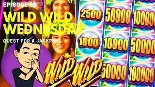 WILD WILD WEDNESDAY! QUEST FOR A JACKPOT [EP 11]  WILD WILD PEARL Slot Machine (Aristocrat)