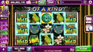 JUNGLE WILD Video Slot Casino Game with a FREE SPIN BONUS