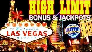 • HIGH LIMIT VEGAS ACTION • SLOT BONUS, LINE HITS & JACKPOTS!