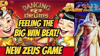 BIG WIN! Dancing Drums Bonus & New Zeus Power Link!