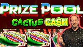 HOT NEW SLOT! PRIZE POOL: CACTUS CASH & PRIZE POOL: FIERCE DRAGON