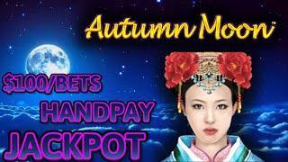 HIGH LIMIT Dragon Link Autumn Moon & Spring Festival (2) HANDPAY JACKPOTS ~ $100 Bonus Slot Machine