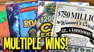 UNEXPECTED WIN, NICE!  $30 $750 Million Winner's Circle + MORE!  TX Lottery Scratch Offs