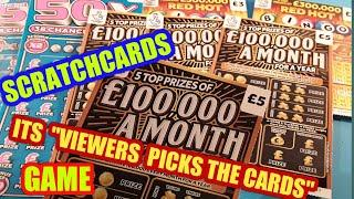 SCRATCHCARDS. VIEWERS PICK THE CARDS..WE DO THEM THURSDAY'