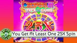 Cleopatra III Mammoth Reels slot machine bonus