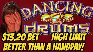My Drums can't stop winning and dancing! High Limit Dancing Drums Bonus.