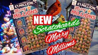 NEW Scratchcards..MERRY MILLIONS...Winter Wonderlines..V.I.P..3 Times Lucky