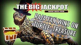BIG WIN by The Big Jackpot Fan on Turtle Treasure Huge Retriggers | The Big Jackpot