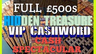 Wow!.Nice SURPRISE.in This Scratchcard Game.Full £500s.VIP Cashword.Hidden Treasure..(Night Classic)
