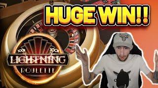 HUGE WIN! LIGHTNING ROULETTE BIG WIN - CASINO Slot from CasinoDaddys LIVE STREAM (OLD WIN)
