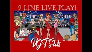 High Limit VGT 9 Liner, Ruby's Night Out - Live Play! Red Screens!