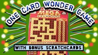£1 MILLION MEGA CASHWORD Scratchcard....and..BONUS Card ...  mmmmmmMMM