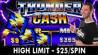 HIGH LIMIT - $25/SPIN  Thunder Cash at Seven Feathers #ad