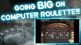 Big Bets on Computer Roulette!  (European Roulette)  Time to play Online Roulette again!