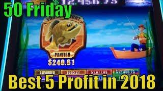 BEST 5 PROFIT IN 201850 FRIDAY50 Videos (139 Slot games) uploaded on YouTube in 2018彡栗スロット/カジノ
