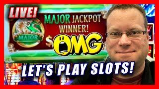 LIVE SLOT PLAY  MAJOR JACKPOT WINNER LIVE AT THE CASINO  LET'S PLAY NEW SLOTS AT THE CASINO