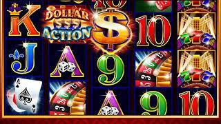 DOLLAR ACTION Video Slot Casino Game with a DOLLAR ACTION FREE SPIN BONUS