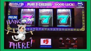 $15/$30 Max Bets, 3 Reel Slot Machines, Triple Double Gold Doubloon and Triple Double Red Hot Sevens