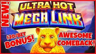 NEW SLOT Ultra Hot Mega Link Amazon Epic Comeback HIGH LIMIT $20 BONUS ROUNDS SLOT MACHINE CASINO