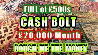 Scratchcards..SCRABBLE..£20,000 Month..Full £500s..Cash Bolt..20X..Dough Money