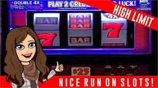 $50-$30-$15 BETS,  DOUBLE 4X WILD CHERRY - GOLD DOUBLOON - HIGH LIMIT LIVE SLOT PLAY!
